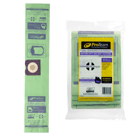 Proteam Intercept Micro Filter Vac Bags For Proguard 4 Vacuum